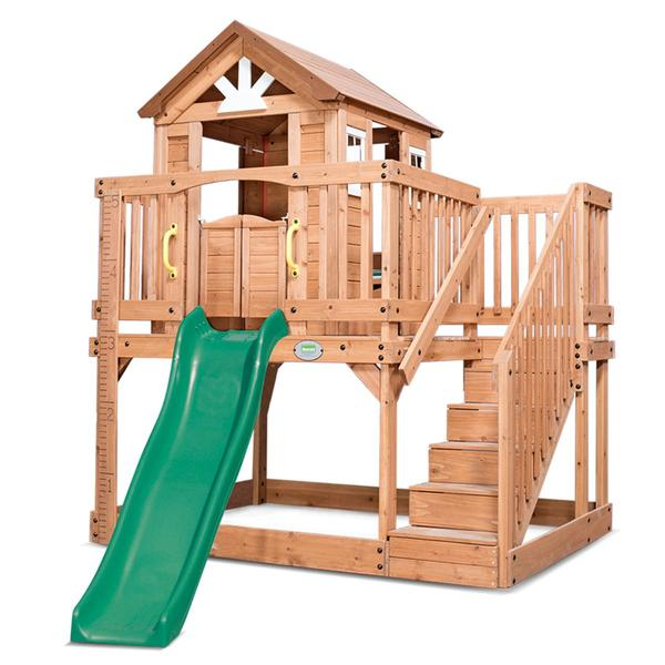 Lifespan Backyard Discovery Scenic Heights Cubby House with 1.8m Slide