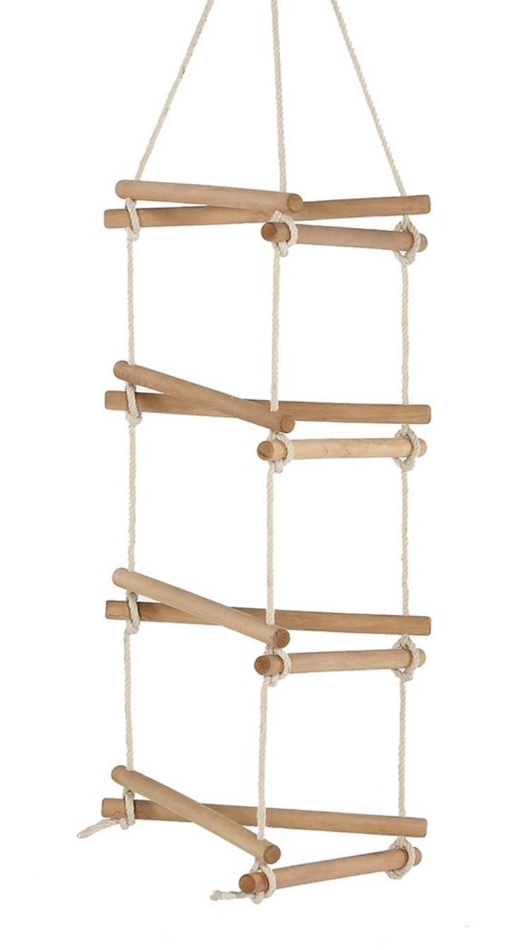Plum 3 Sided Rope Ladder with Lime hanger