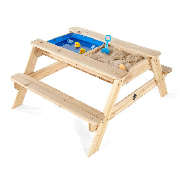 Plum Surfside Wooden Sand & Water Picnic Table