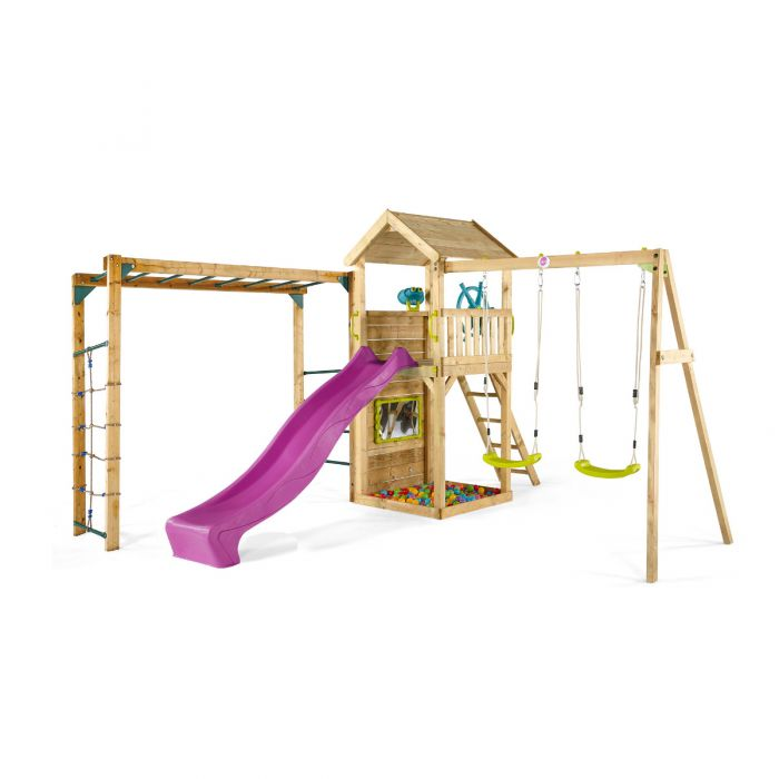 Plum Lookout Tower Play Centre with Swing and Monkey Bars