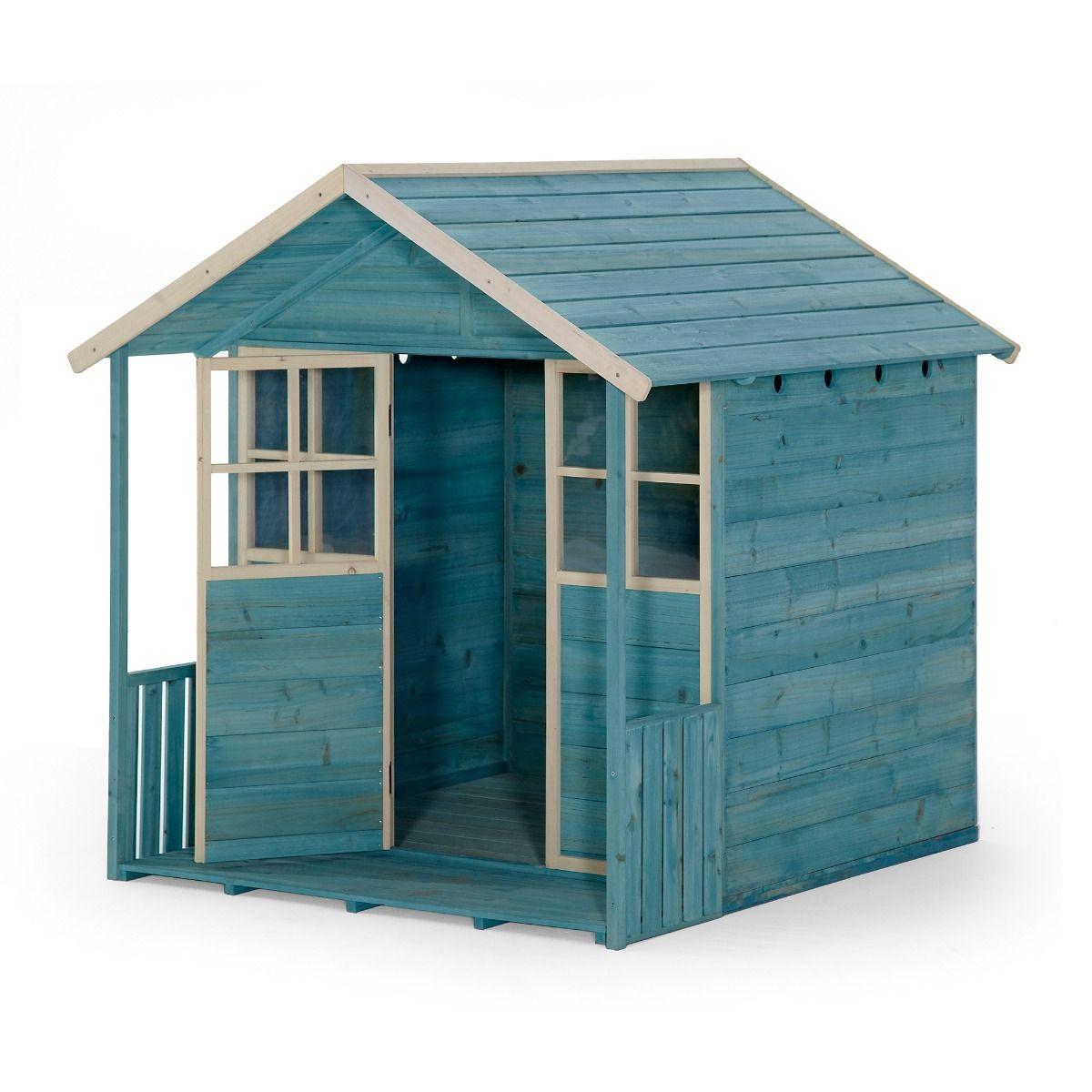 Plum Wooden Cubby House – Teal