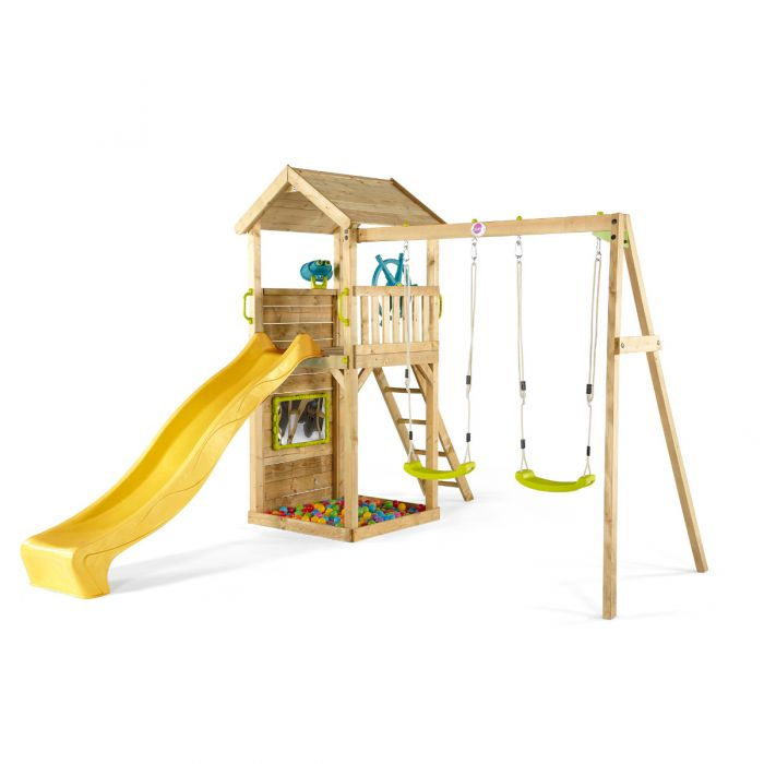 Plum Lookout Tower Wooden Climbing Frame with Swings