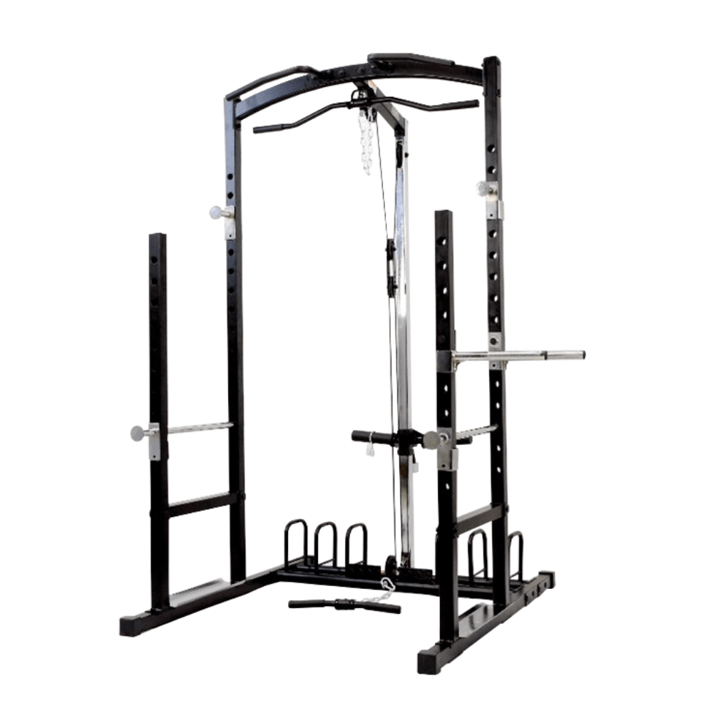 Johnson Squat Cage with Lat Station
